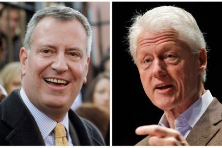 Bill de Blasio, Bill Clinton