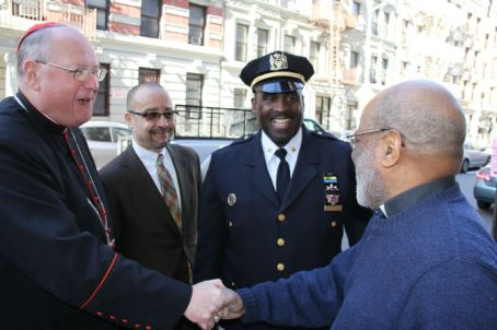IMG_5481 5481  L-R  THE Cardinal Timothy Dolan friend Michael A. Davidson- Deputy Inspector of 32nd