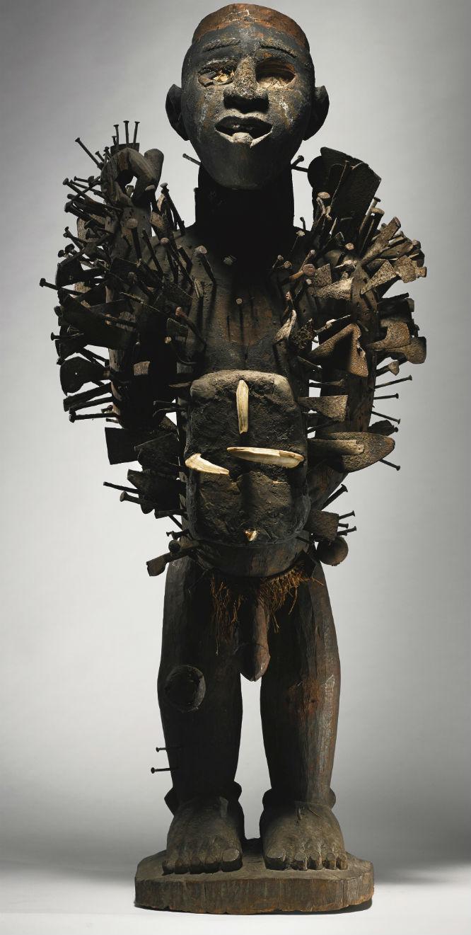 Kongo-Yombe Nail Power Figure