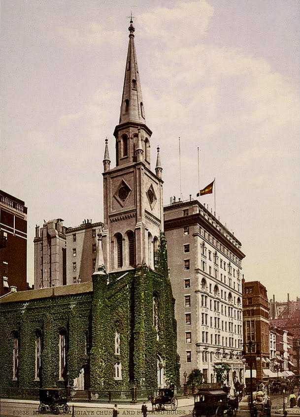 Marble Collegiate Church and Holland House, New York 1901