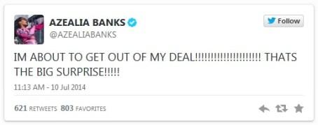 azeala banks on twitter
