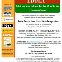 EBOLA, A Community Forum In Harlem