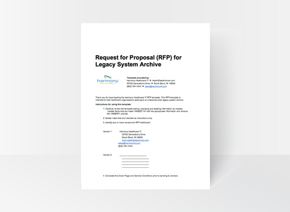 Legacy System Archive RFP Template