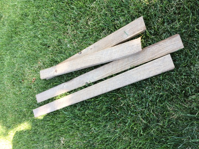wood sign frame pieces