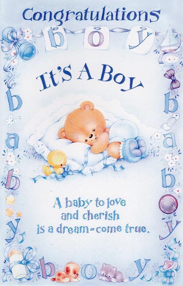 Wrapped Baby Boy Congrats