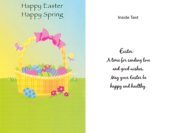 Wrapped Easter cards