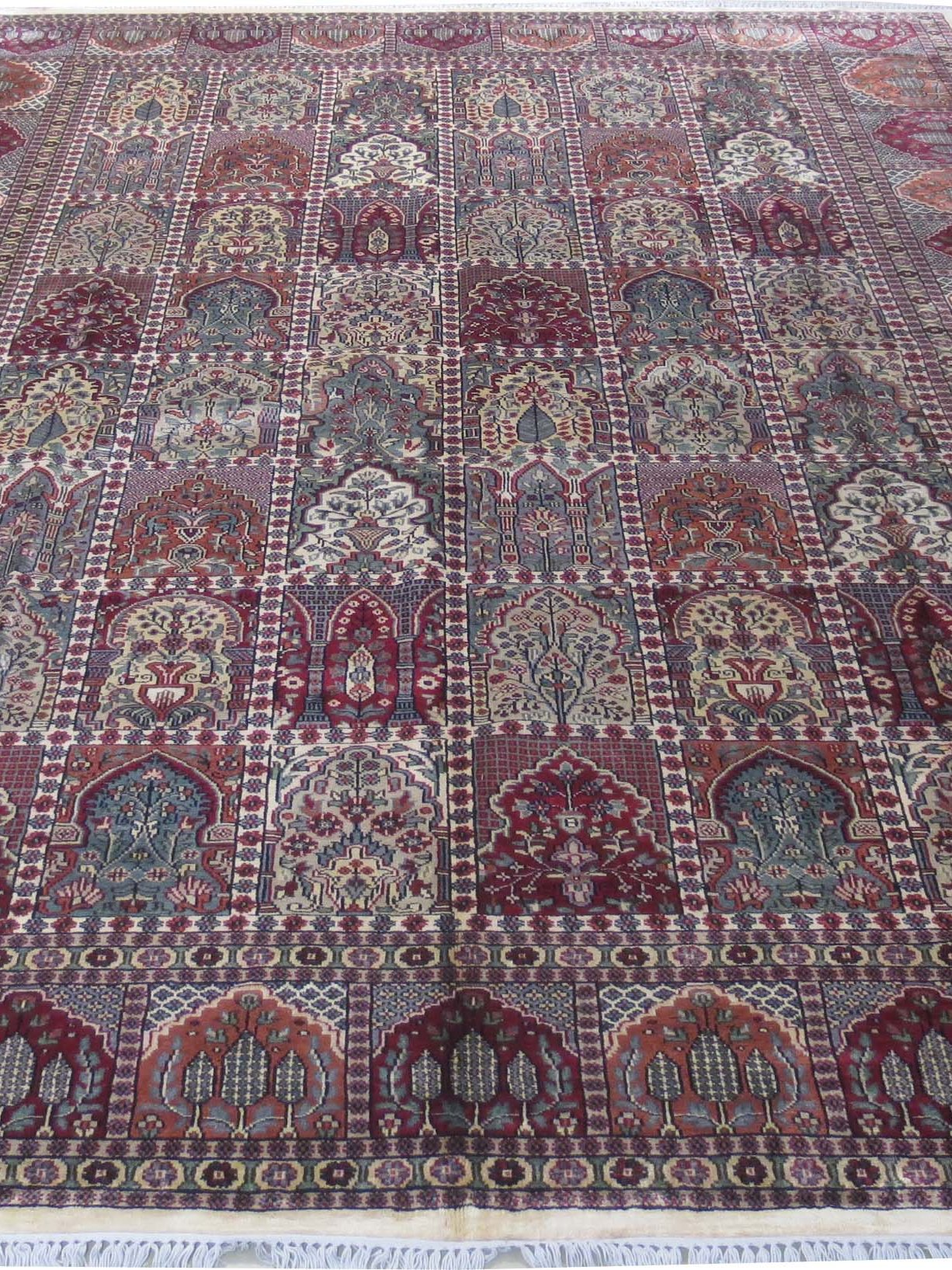 Indian Jammu Hand Knotted Rug 939 X 1239 Rich Cotton Silk