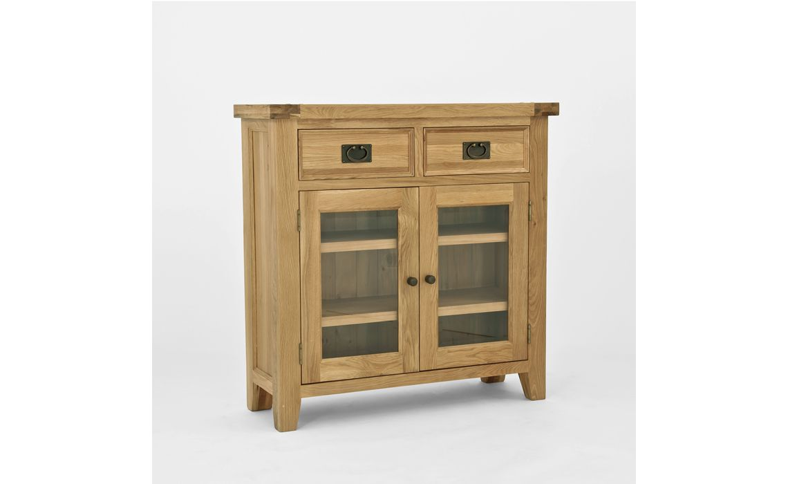 Elegance Oak Small Bookcase With Glass Door Oak Suffolk