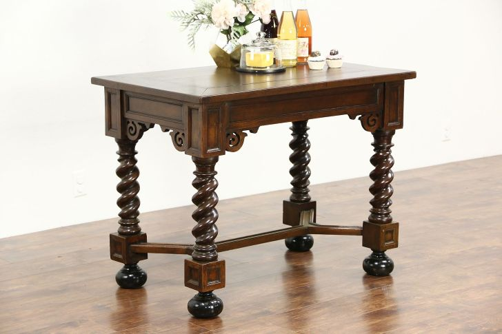 item kitchen console table Dutch Antique Oak Library Hall or Console Table Kitchen Island