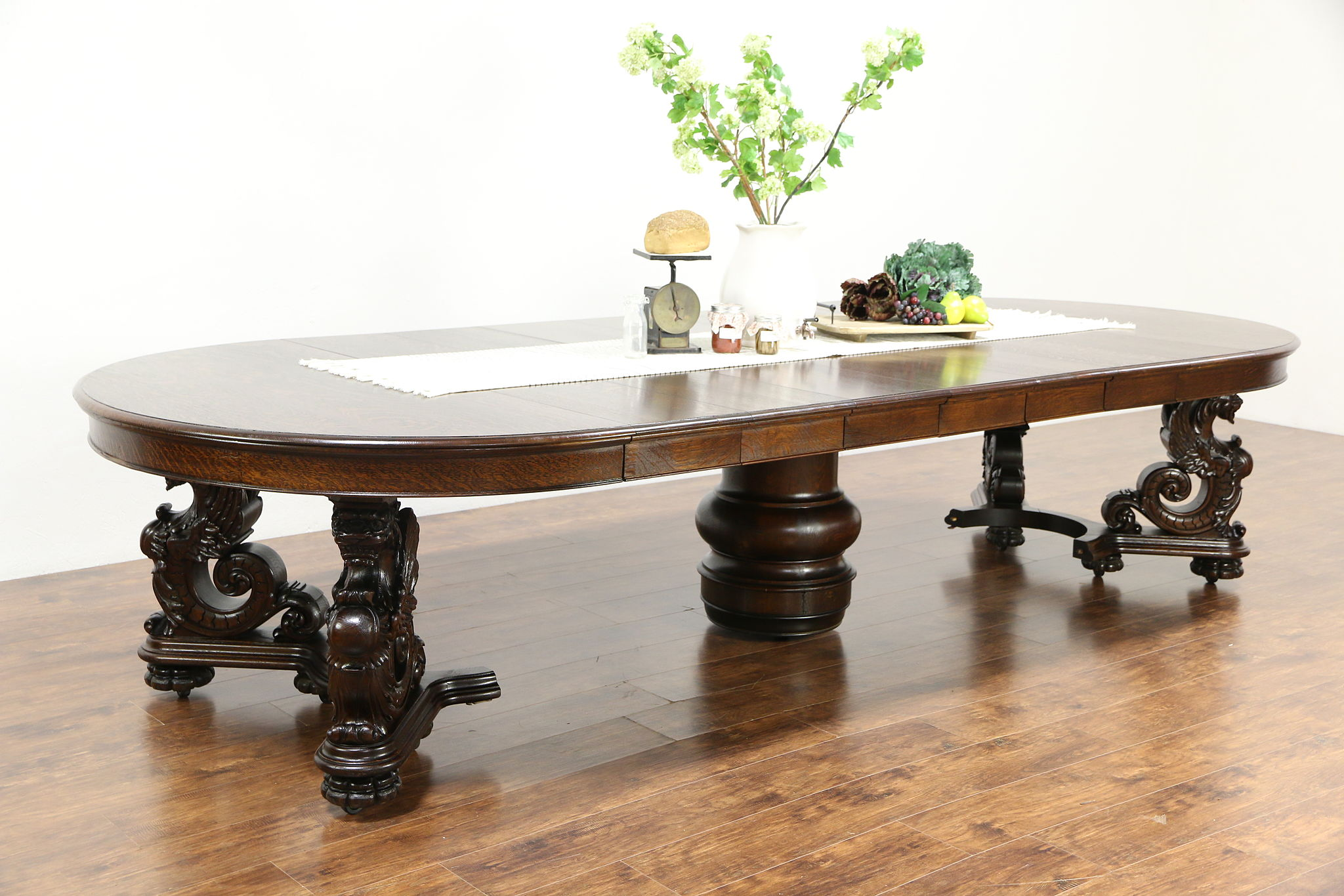 Antique Dining Table With Leaves Best 2000 Antique