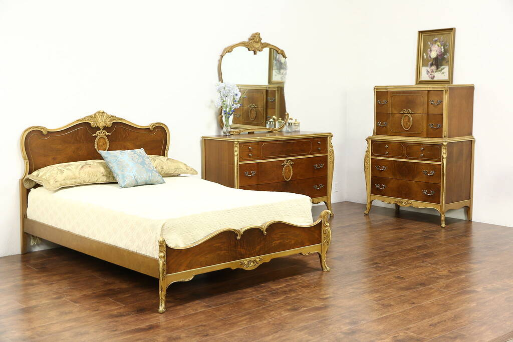 Sold French Style 194039s Vintage 3 Pc Bedroom Set Full