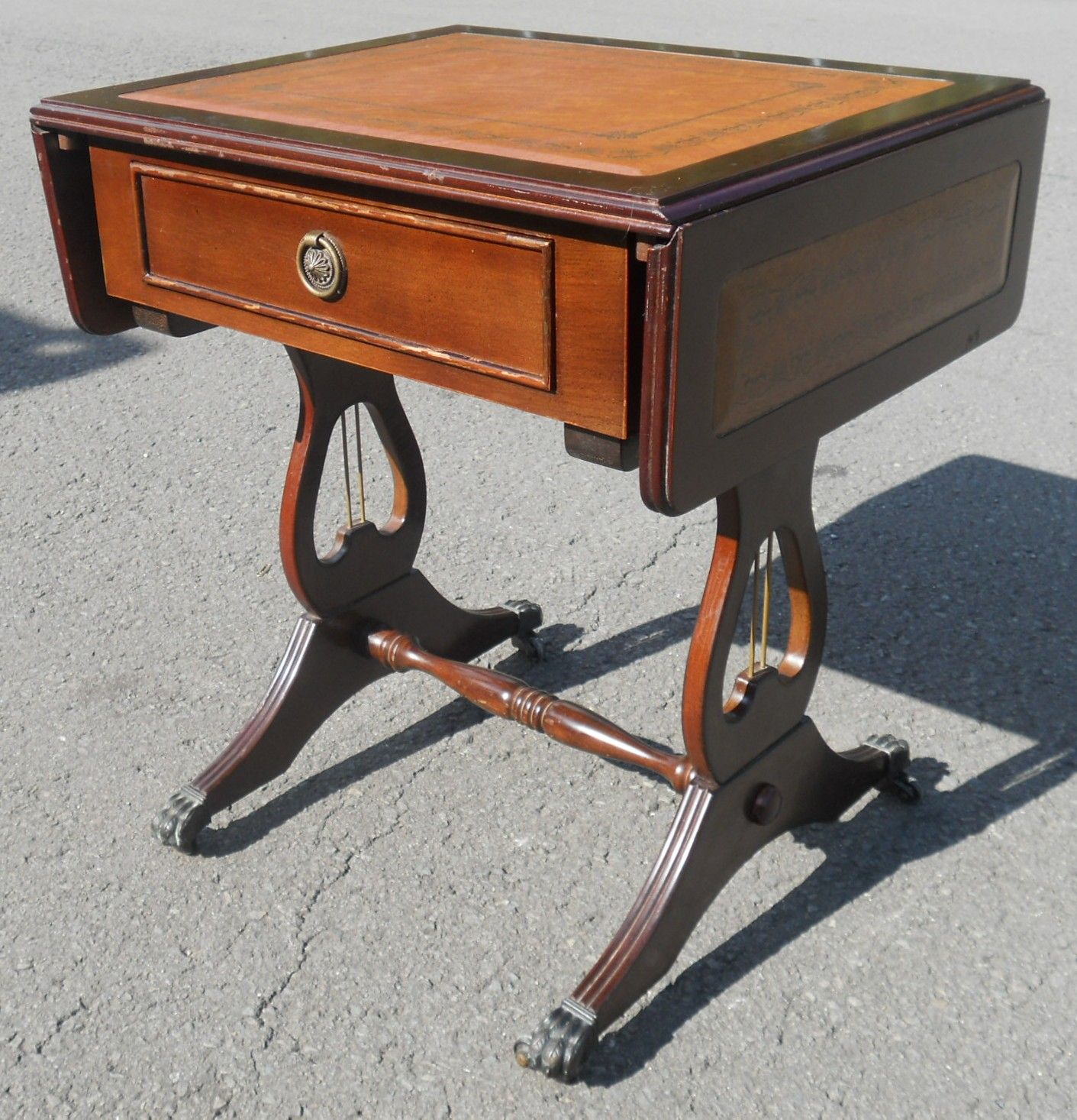 Small Dropleaf Regency Style Coffee Table