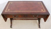 SOLD - Leather Top Mahogany Sofa Coffee Table in Antique ...