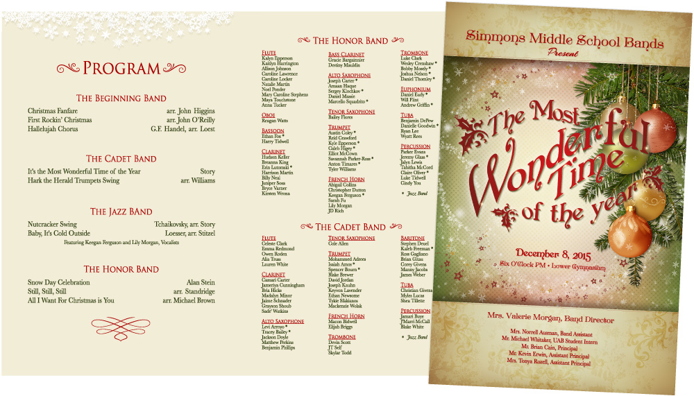SMS Band Winter Concert Program
