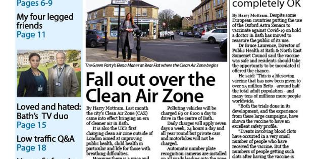 Bath Voice monthly news magazine is out now including the latest on the clean air zone