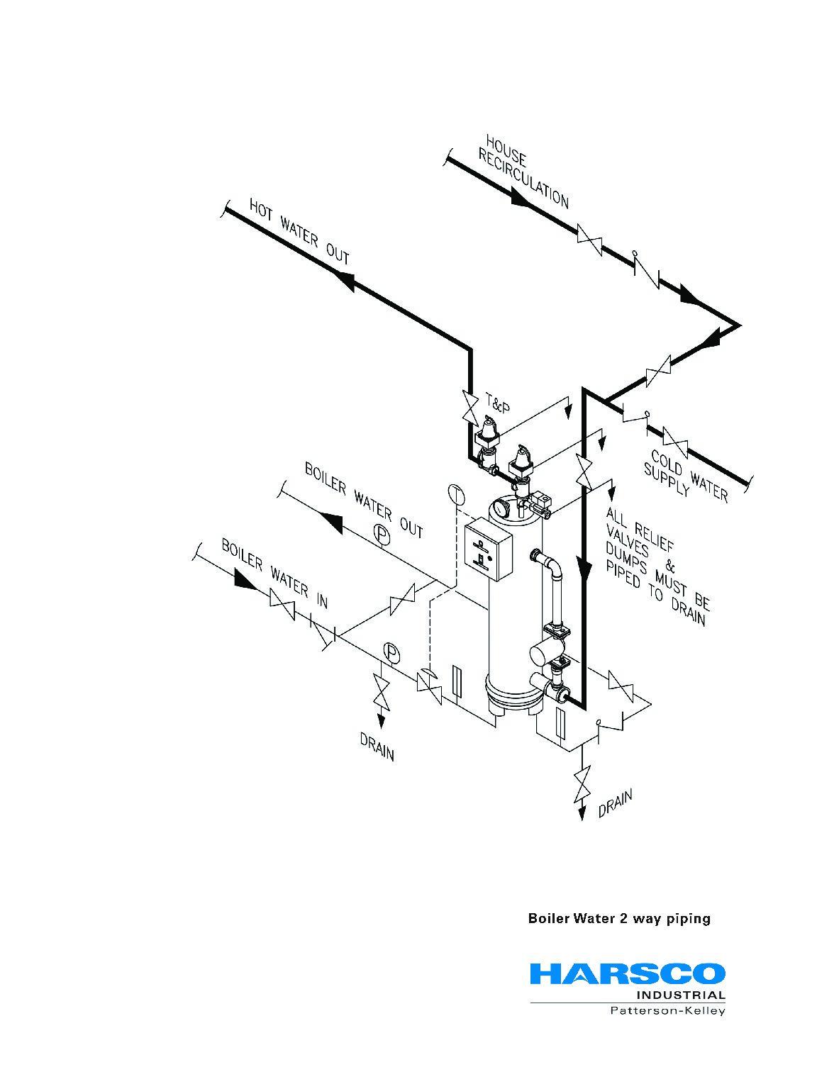 piping diagram for combi boiler