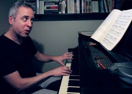 Jeremy Denk performs the Aria from J.S. Bach's Goldberg Variations.