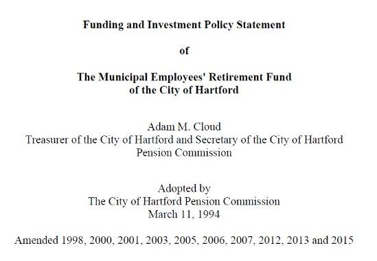 Funding and Investment Policy Statement Investment Policies
