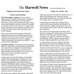 October Harwell News