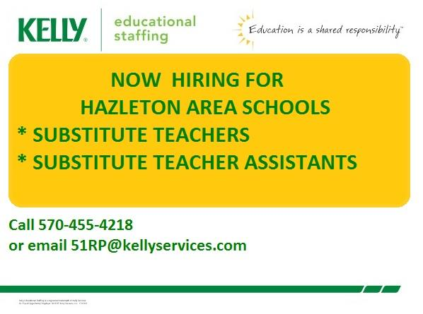 Employment / Substitute Teaching through Kelly Educational Staffing