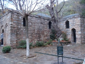Side view of the House of the Virgin Mary. It wasn't a very big building, only one modest room made of stone.