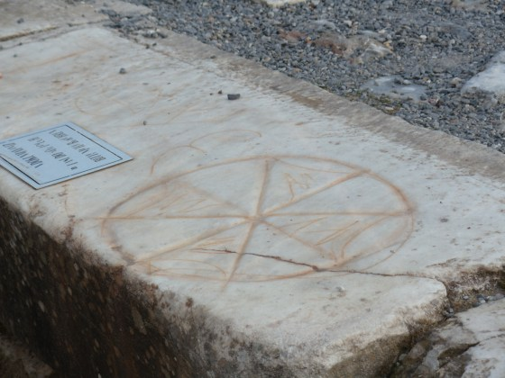 This was not an ancient symbol for a pizzeria. Rather, it was a secret symbol to denote a gathering place for Christians.