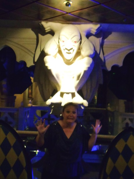 I felt the same way about diabetes as I did about standing so close to this gargoyle: terrified!