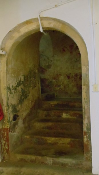 Stairs to upper room in San Cristobal