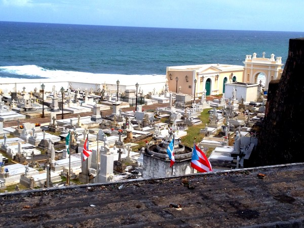 Graves with a sea view