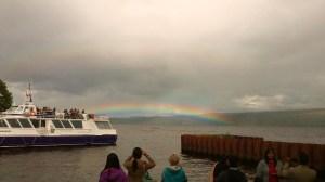 Double Rainbow Taking Shape