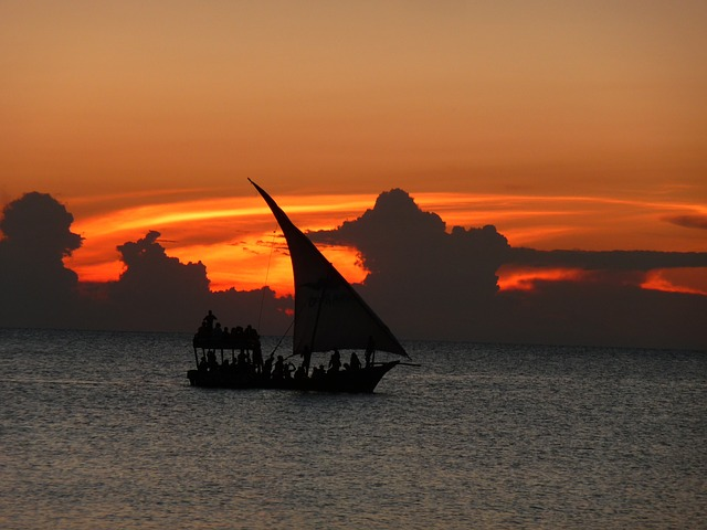 Dhow in the sunset