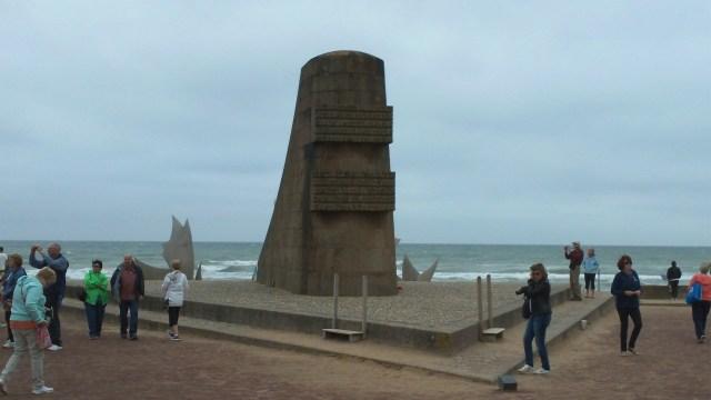 Omaha Beach Memorial with Sculpture