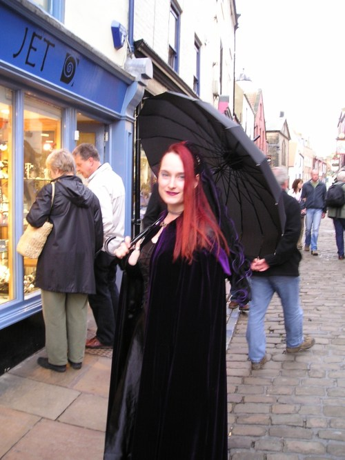 A beautiful Goth at Whitby Goth Weekend - Photo: Paul Fitz-George
