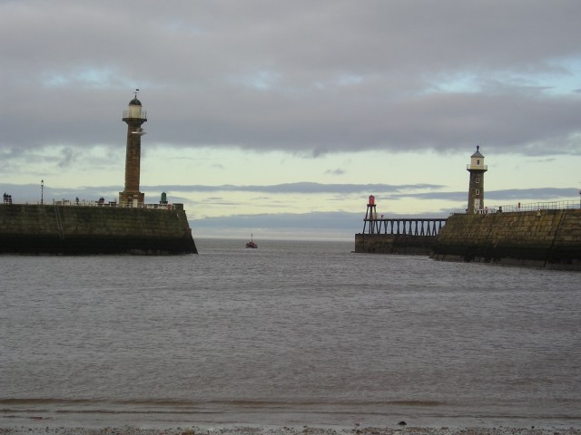 The harbour entrance at Whitby facing out to the North Sea, which was formerly known as The German Ocean up to World War I - Photo: Paul Fitz-George