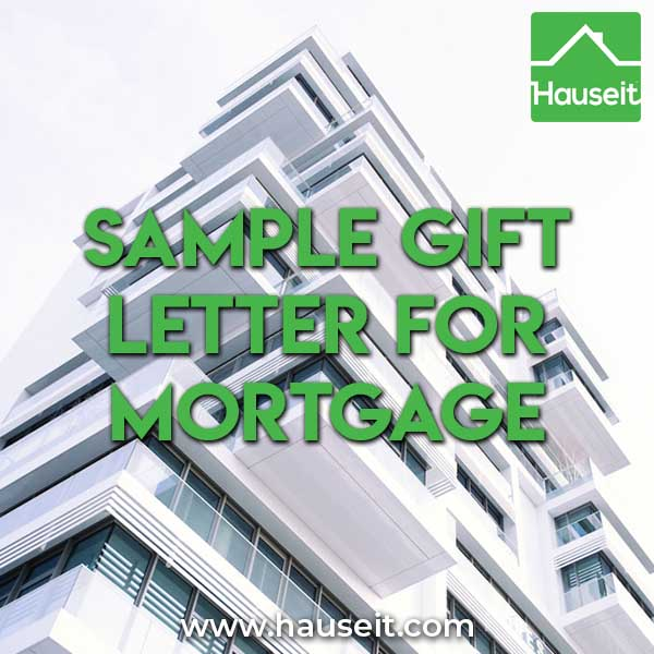 What is a Gift Letter - Sample Gift Letter for Mortgage Hauseit NYC - gift letter