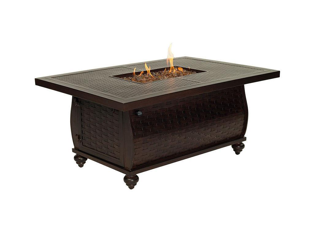 French Quarter 36quot X 52quot Rectangular Coffee Table Firepit