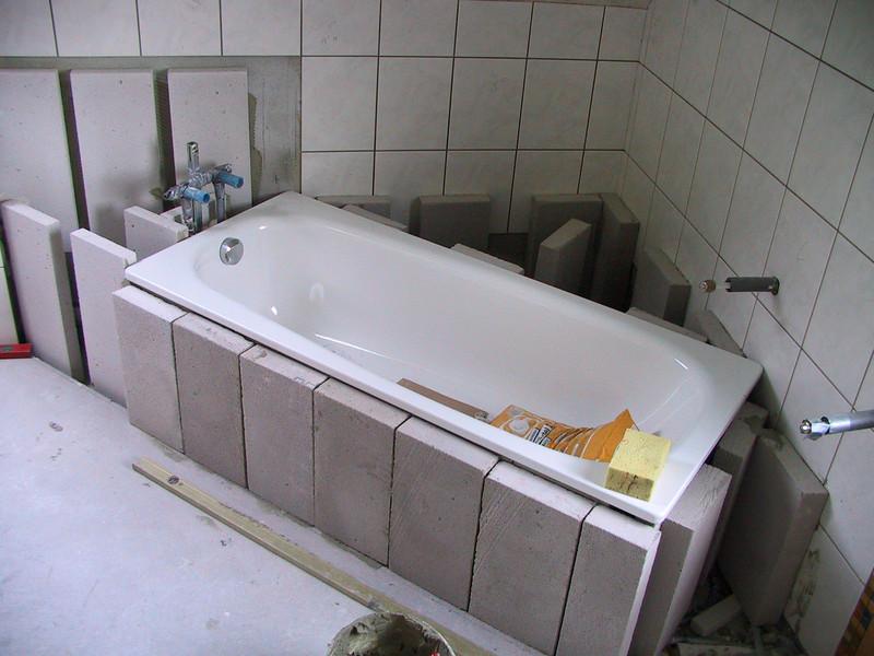 Badewanne einbauen - So wirdu0027s gemacht! - badewanne einmauern ideen