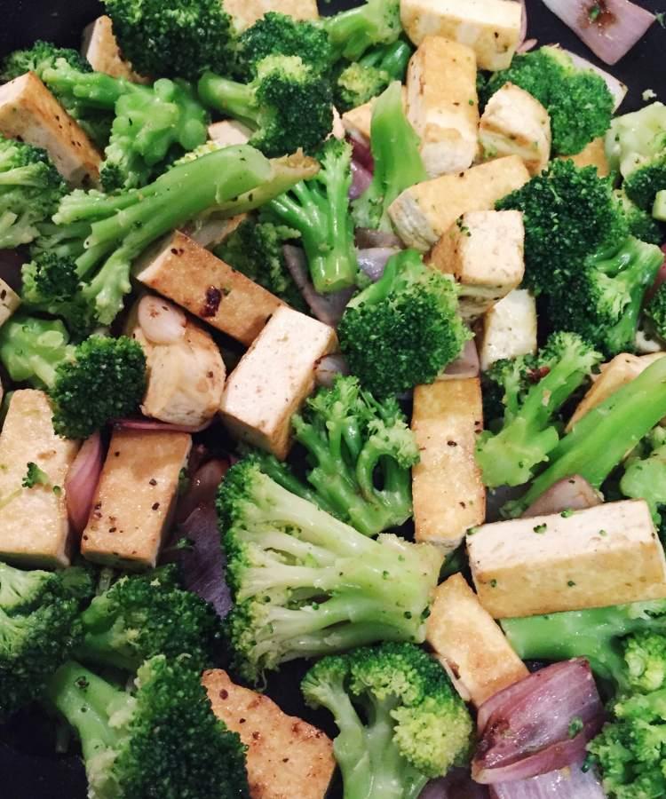 Tofu Broccoli Stir-fry with Almond Chili Sauce | HAUS OF LOV