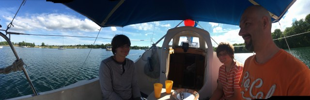 Anchored at Amherst Island