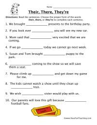Homophones Worksheets - Page 2 of 3 - Have Fun Teaching