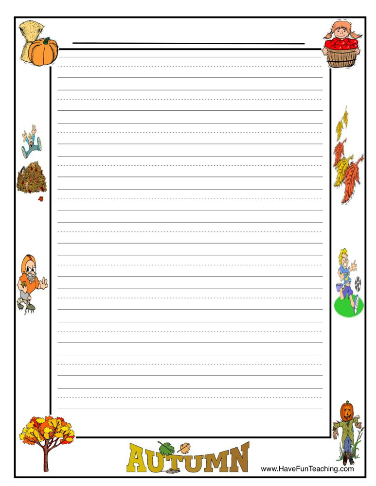 Writing Lined Paper Writing Resources