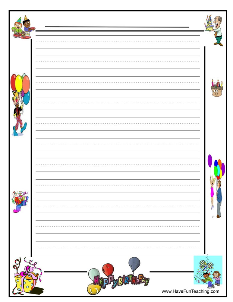 Resources Writing Lined Paper Writing Worksheets