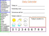 Interactive Learning And Reading Activities For Students Smartboard Daily Calendar Have Fun Teaching