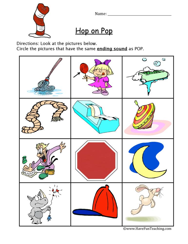 Dr Seuss Phonics Worksheet Have Fun Teaching - phonics worksheet
