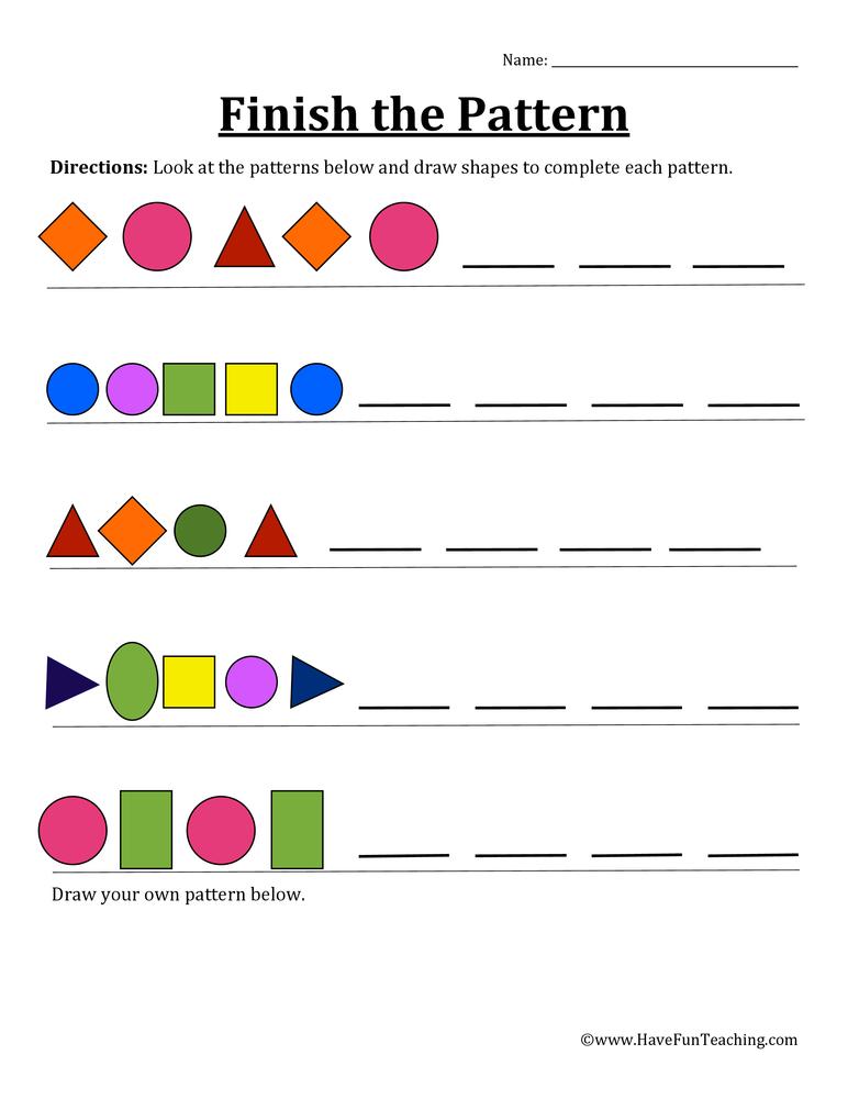 Resources Math Patterns Worksheets