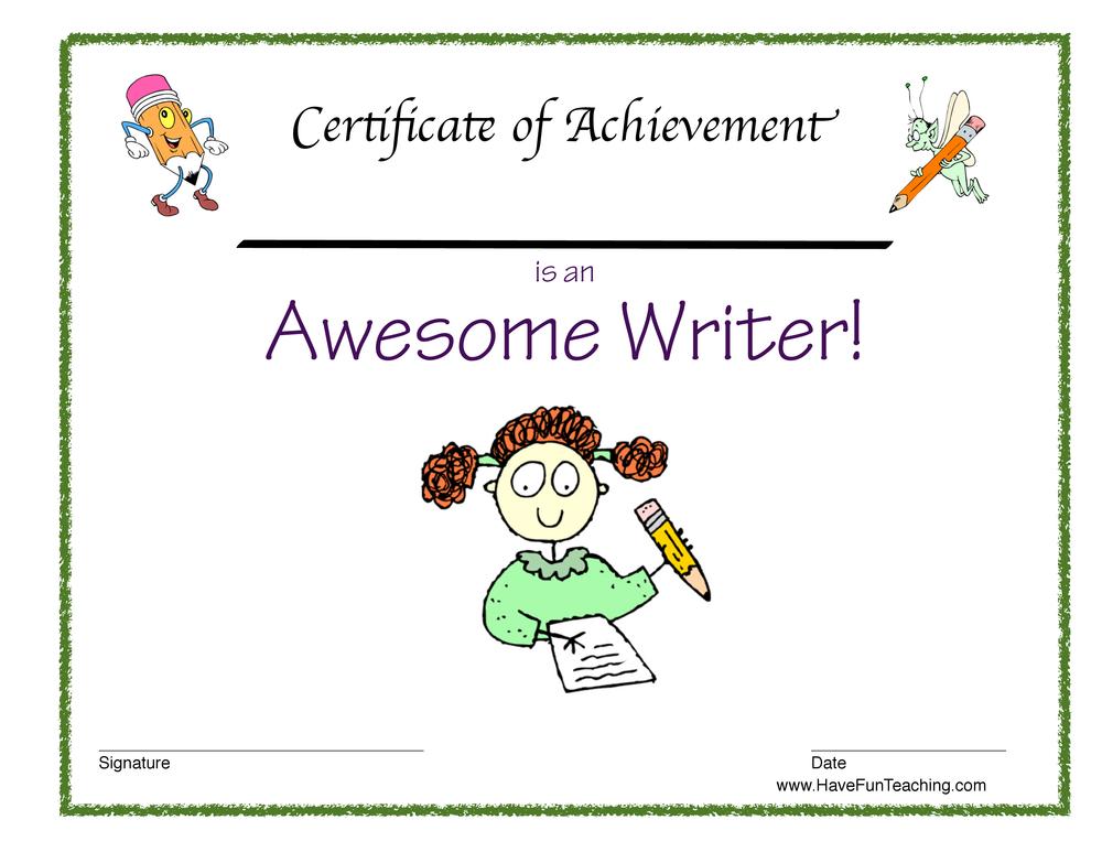 printable awards for students - Akbakatadhin - certificate of achievement for students