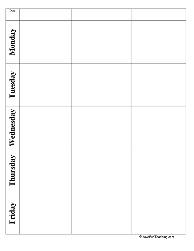 Blank Lesson Plan Template Have Fun Teaching