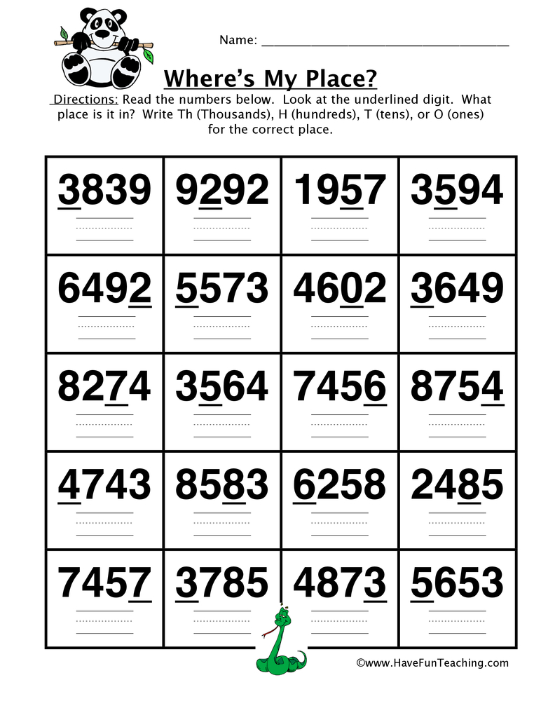 Converting Four Digit Place Value Worksheet Have Fun Teaching