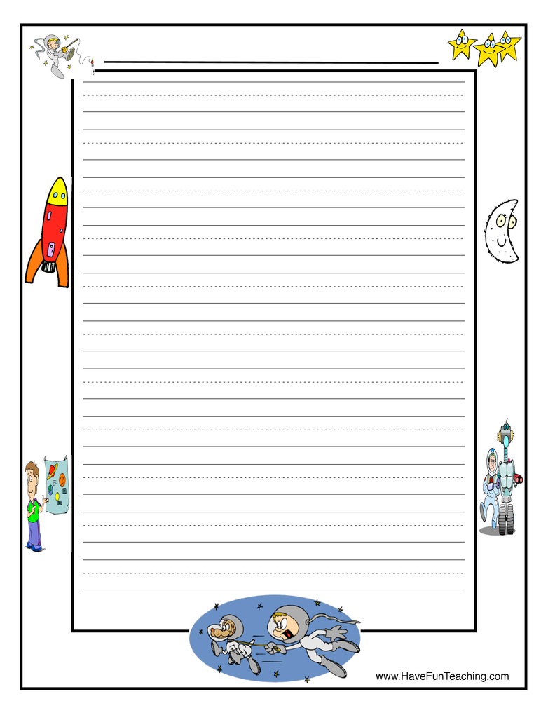 space writing paper template - Lined Paper To Write On