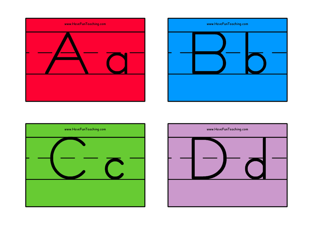 Alphabet Flash Cards - Zaner Bloser Color Have Fun Teaching